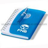Kundenspezifisches Deckel-Notizbuch der Spirale-pp. mit Feder für Geschäfts-Geschenk (PPN227)