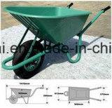 Carrinho de mão de roda pneumático da roda do Sell quente durável da construção (WB6414)