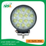 Alimentador de trabajo auto redondo barato de las luces de la pulgada 42W de la luz 12V 4 del trabajo del LED