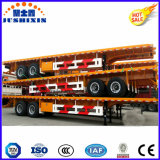 Bester verkaufender Flachbettbehälter-LKW-halb Schlussteil mit Doppelwelle