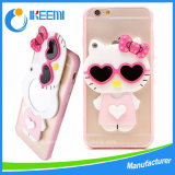 iPhoneのための中国Wholesale Cute Cartoon Image DesignのパソコンMirror Cover Case 6 6s