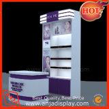 Soporte cosmético del estante de visualización del MDF para la feria profesional