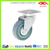 灰色のゴム製足車の車輪(G110-32C050X17)