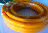 PVCプラスチック黄色いスプレーの高圧軽油のホース