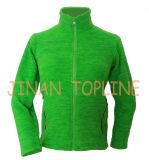Младший тип Microfleece, куртка ватки застежки -молнии Polarfleece длинняя