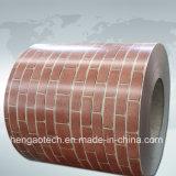 색깔에 의하여 입히는 강철 코일, 벽돌 패턴 PPGI