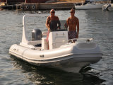 Di Liya 19FT di pesca 10persons della vetroresina barca gonfiabile speciale della nervatura semi (HYP580)