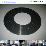Kundenspezifische schwarzes u. weißes Puder überzogenes CNC-Blatt-maschinell bearbeitenteile