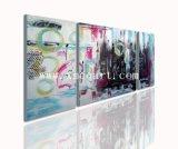 Pintura al óleo abstracta del grupo (New-201)