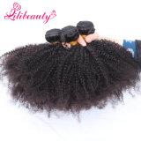 Estoque Curly Kinky da polegada da extensão 10-28 do cabelo do Virgin do Afro cambojano