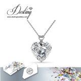 Cristal da jóia do destino do pendente animador & da colar do coração de Swarovski