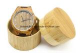 Вахта полосы неподдельной кожи естественного деревянного Wristwatch Bamboo деревянный Unisex