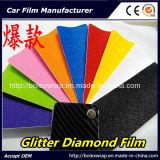 Черный гениальный автомобиль диаманта яркия блеска пленки диаманта оборачивая пленку винила PVC
