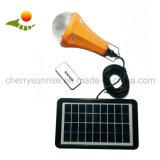 Lumière solaire campante à la maison solaire de nécessaire de batterie au lithium du système de d'éclairage DEL 5W 2800mAh