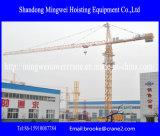 Guindaste de torre Qtz100 de China da construção do consumo da instalação fácil baixo (6010) - máximo. Carga: 8t
