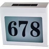 Luz solar del número del direccionamiento de la casa del LED