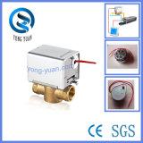Soupape motorisée par laiton bidirectionnel électrique de soupape de commande pour la bobine de ventilateur (BS-828-15)