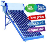 Géiser solar solar del calentador de agua caliente del tubo de vacío de Unpressure del calentador de agua del panel con el tanque de agua solar auxiliar