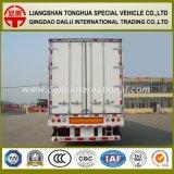 3장의 Axles Refrigerated 밴 Type 또는 열 반 트레일러 트럭 트레일러