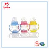 Frasco de leite plástico do produto comestível com base em mudança 150ml da cor