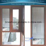 Ventana de aluminio con celosías (obturador) y vidrio templado