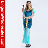 Ägyptisches Juwel-erwachsenes Abendkleid-Kostüm der reizvollen Frauen für Halloween-Partei