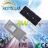 Intelligentes im Freien LED-integriertes Solarstraßenlaterne8W