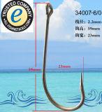 Amo 34007 dell'amo di pesca dell'acciaio inossidabile singolo