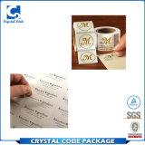 Escritura de la etiqueta clara transparente modificada para requisitos particulares de la etiqueta engomada del animal doméstico de la impresión