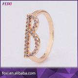 покрынное золото 18K вымощает кольцо b письма алфавита диаманта CZ первоначально