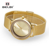 Relógios impermeáveis do amante da liga simples ocasional da forma do relógio do negócio dos pares de Belbi