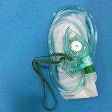 Masque à oxygène avec le réservoir Bagen avec OIN de la CE (vert, oblongs pédiatriques avec la tuyauterie)