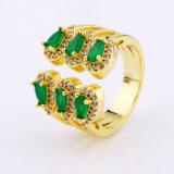 Ring van Zircon van de Juwelen van de Manier van het koper de Halve Openings
