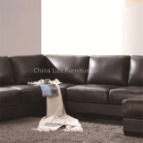 Populäres Wohnzimmer-Möbel-Leder-Sofa in der u-Form