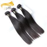 厳密な品質管理の100%年のバージンのブラジルの人間の毛髪のよこ糸