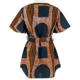 2017 camisas impresas nueva tela de las señoras Hawaii del estilo de la manera africana de encargo