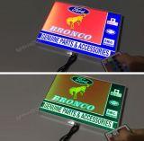 Escoger/visualización de LED al aire libre lateral doble del acrílico