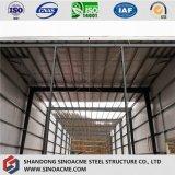 Atelier de structure métallique avec le toit plat