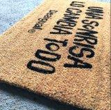 Natürlicher Goldbrown-Kokosnuss-Coco-Coir-Faser Koko willkommener Eingangs-im Freienfußboden-Tür-Matten