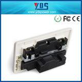 Heißes Verkaufs-Produkt 5V2.1A verdoppeln USB-elektrische Schalter-Kontaktbuchse für BRITISCHEN Typen
