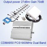 27dBm 850MHz+1900MHz Doppelbandverstärker St-1085b des signal-Booster/GSM