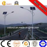 Luz de rua solar do diodo emissor de luz da lanterna de alumínio da lâmpada da C.C. do brilho elevado