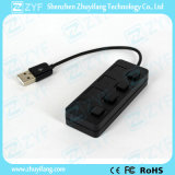 Interruptores Independentes 4 Port USB Hub 2.0 (ZYF4207)