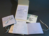 Der verpackenangepasste kasten nehmen Gruß-Karte/Geburtstag-Karte/Festival-Karte an