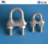 Galv électrique. Clip malléable DIN1142 de câble métallique