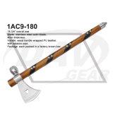 """18 3/4 """" de machado de madeira total do punho com lâmina do cetim: 1AC9-180"""