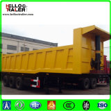 Caminhão basculante lateral hidráulico de construção / Semi-reboque semi-basculante