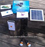 Système de d'éclairage de la batterie solaire DEL de trois salles de 90m avec radio fm et le lecteur MP3