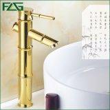 Plataforma do Faucet da bacia do banheiro da pintura do ouro de Flg montada