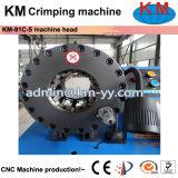 公認のセリウムの油圧ホースのひだが付く機械(KM-91C-5)